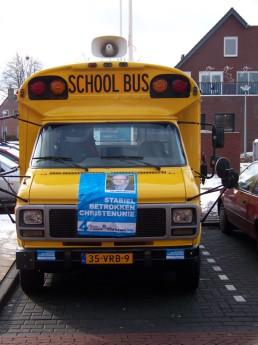 Campagne met de bus